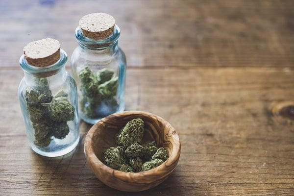 Cannabis in Glass Jars
