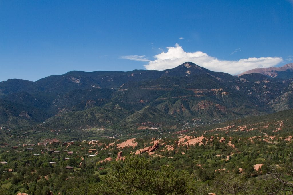 boulder mountain view