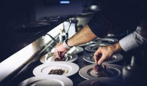 chef plating entrees