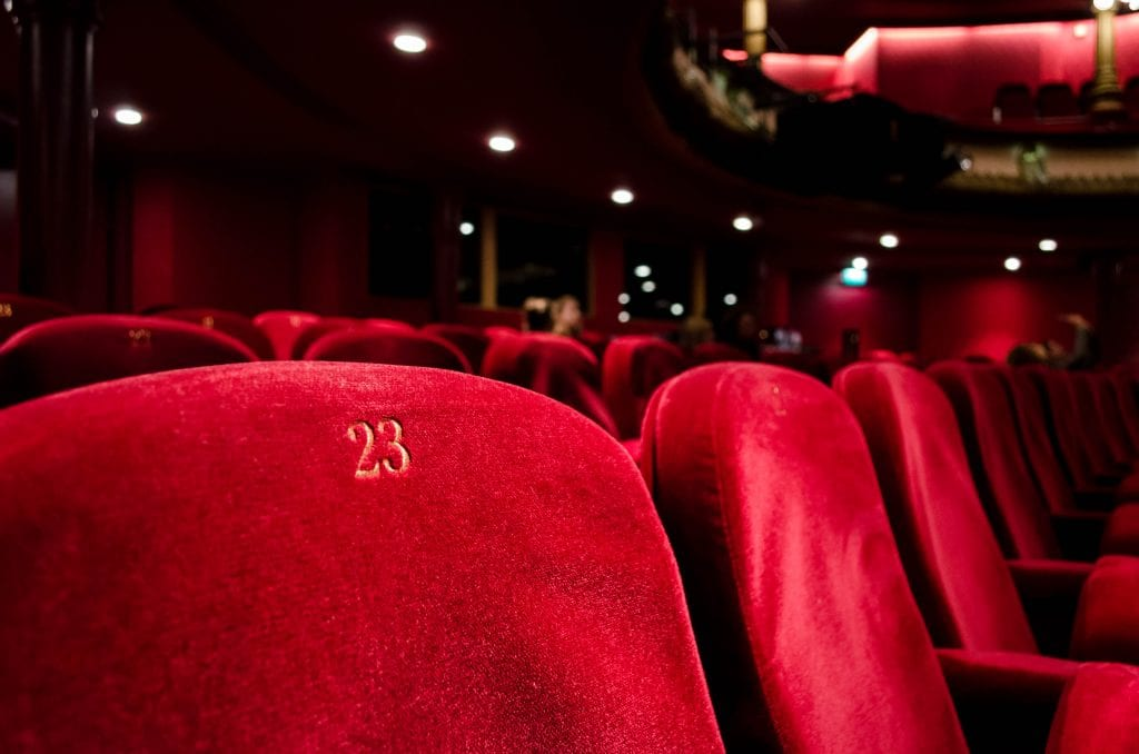 (red cinema seat number 23)