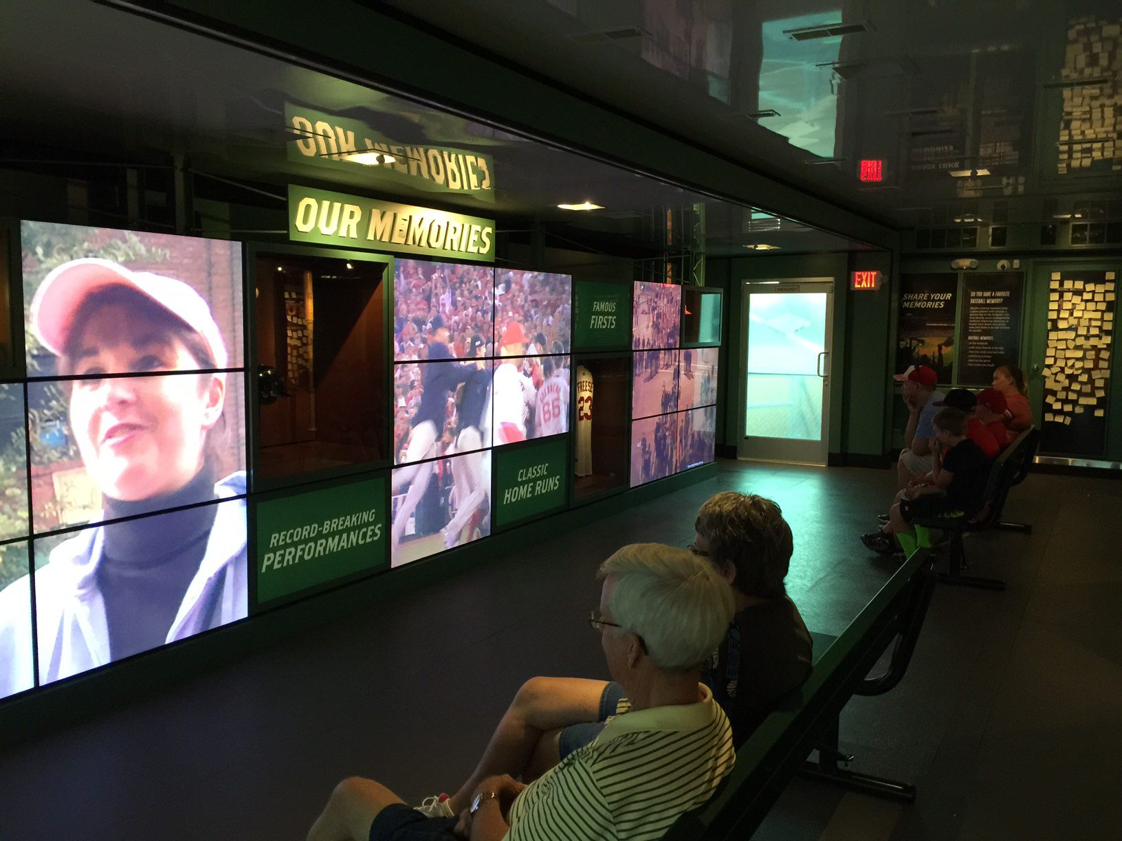 A number of interactive exhibits and films are available for viewing at the Hall of Fame exhibit in Davenport.